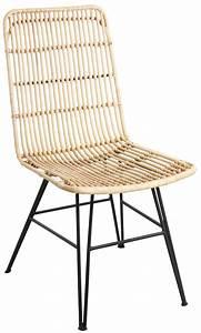 Chaise Rotin Et Metal : chaise en rotin et m tal ma a naturel ~ Teatrodelosmanantiales.com Idées de Décoration