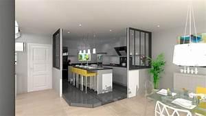 cuisine semi ouverte top cuisine With toute les couleurs de peinture 10 cuisine blanche pour ou contre cate maison