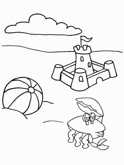 Coloring Summer Pages Colouring Fun Beach