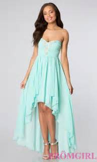 strapless high low party dress for homecoming promgirl
