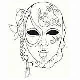 Gras Mardi Maszk Coloriage Coloring Masks Masque Sablon Dessin Decoplage Mask Carnaval Carnival Colouring Coloriages Mandala Venetian Zum Adult Drawings sketch template