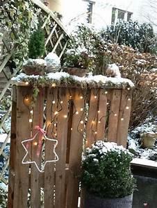 Paletten Deko Weihnachten : weihnachtsdeko im garten tischlein deck dich ~ Buech-reservation.com Haus und Dekorationen