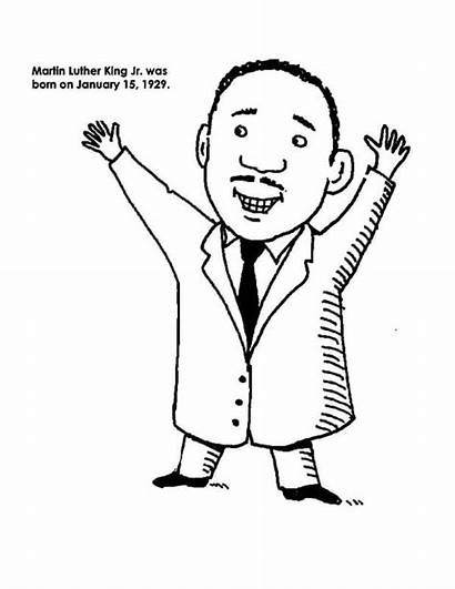 Luther Martin King Jr Coloring Pages Cartoon