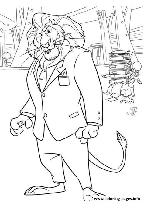 Coloring Zootopia by Zootopia 16 Coloring Pages Printable