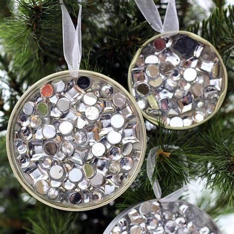 17 recycled craft ideas for christmas tree ornaments simple recycled rhinestone diy ornaments mod podge rocks