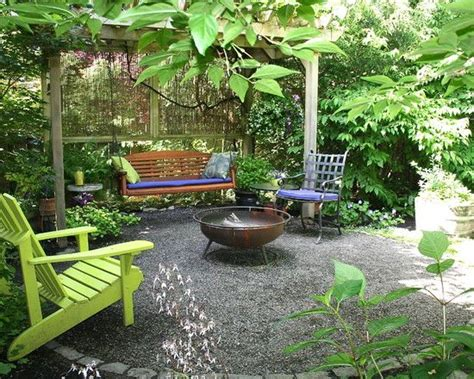 back yard makeover back yard make overs backyard makeover eclectic patio small pergola with screen bench swing and