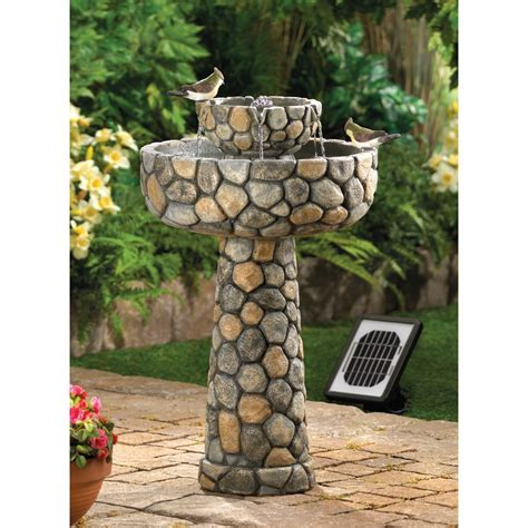 cascading fountains wishing well solar water