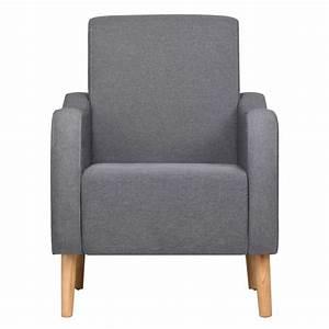 Fauteuil Gris Clair : acheter vidaxl fauteuil tissu gris clair pas cher ~ Teatrodelosmanantiales.com Idées de Décoration