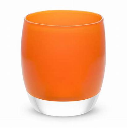 Tangerine Candle Orange Holders Bright Glass Candles