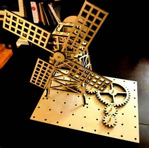 laser cut windmill of robots and whales