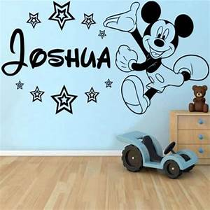 Aliexpress com : Buy Personalised Mickey Mouse Wall Decorative Films Classic Baby Decals Decor