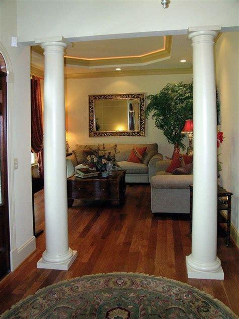 living room columns  create rich details