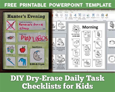 diy dry erase daily routine checklists  kids