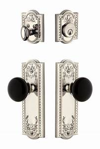 Parthenon Plate With Coventry Knob And Deadbolt Combo Pack