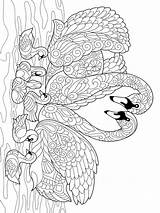 Coloring Swan Zentangle Adults Adult Printable Mycoloring Teens sketch template