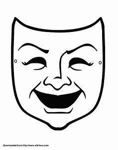 how to make a tragedy and comedy mask out of paper 5 steps With spartan mask template