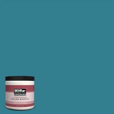behr premium plus ultra 8 oz home decorators collection calypso blue interior exterior paint