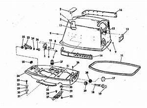 Johnson 1973 25 - 25el73a  Motor Cover
