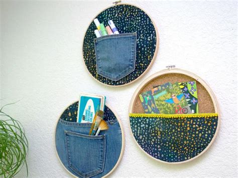 stylish storage solution diy embroidery hoop wall pockets