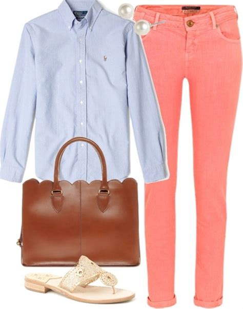 46 best Coral/Orange jeans outfit ideas images on Pinterest | Feminine fashion My style and ...