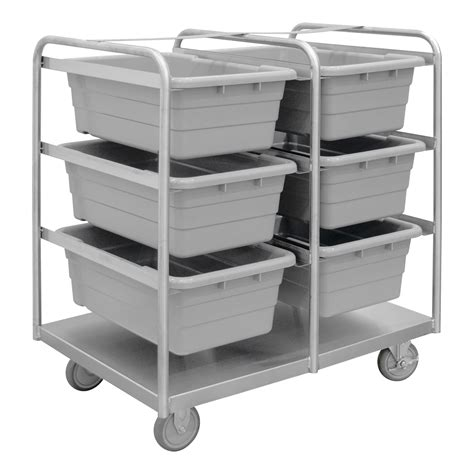 stainless steel tub rack cart  bins
