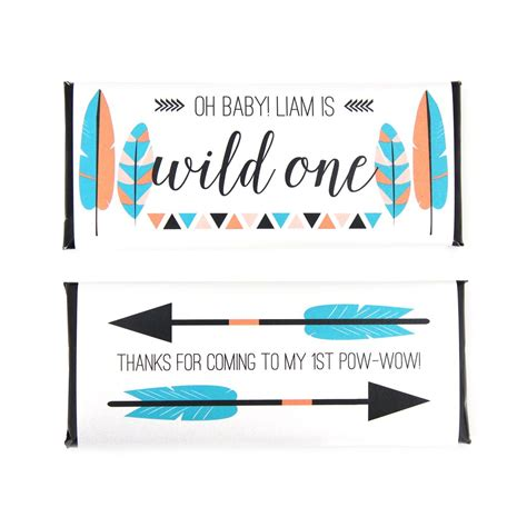 Great Gatsby Baby Shower by Tribal Feathers And Arrows Personalized Candy Bar