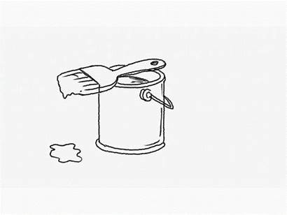 Paint Brush Drawing Dripping 2d Animation Bucket