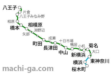 横浜 線 路線 図
