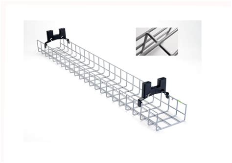 under desk cable tray 1 6m nylon coated desk basket tray ncdbt16 59 99