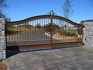 driveway gates gallery iron fencing by viking fence dallas With metal letters for entrance gates