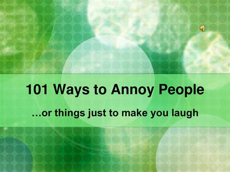 'oz'  The 'other' Side Of The Rainbow 101 Ways To Annoy People