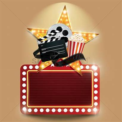 Cinema Background Vector Objects Popcorn Film Movies