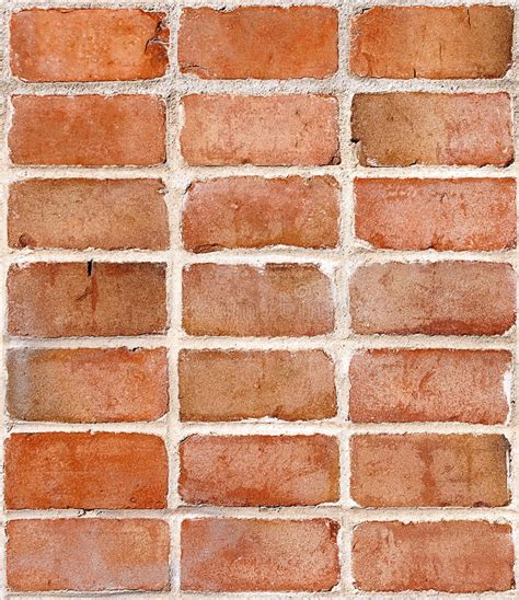 Red Brick Wall, Repeating Tile Stock Image  Image Of