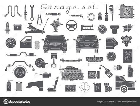 Kfz Garage by Garage Set Kfz Ersatzteile Stockvektor 169 Wins86 131384874