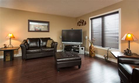 beautiful dark floors and furniture goes great against the