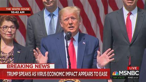cnn ignores trump jobs report speech msnbc dips  early
