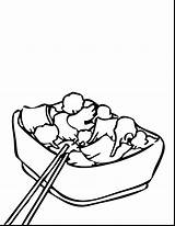 Coloring Chinese Wok Drawing Sketch Template sketch template