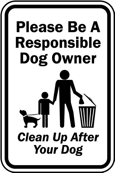 clean up after your dog sign f7584 by safetysign com