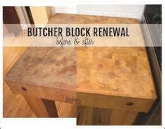How To Refinish Butcher Block Countertops by How To Refinish A Butcher Block In 2019 For The Home