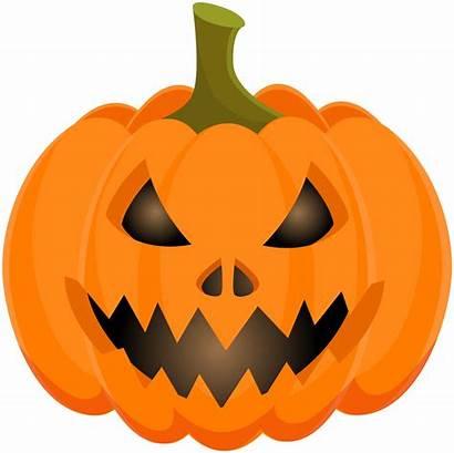 Pumpkin Scary Halloween Clip Clipart Spooky Transparent