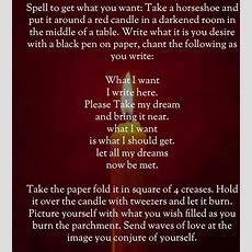 Spell To Get What You Want  Pagan Path  Magick Spells, Luck Spells, Candle Spells