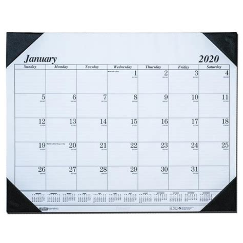 hod house doolittle desk pad calendar
