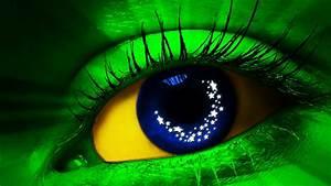 3D green eyes HD wallpaper