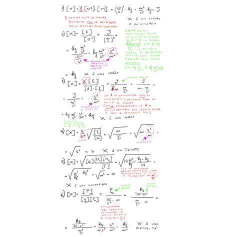 fisica matematica dispense esercizi equivalenze con soluzioni