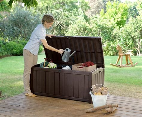 Amazon.com : Keter Glenwood Plastic Deck Storage Container