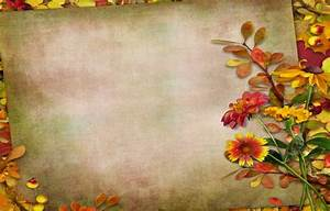 Wallpaper vintage, flowers, leaves, autumn, leaves ...