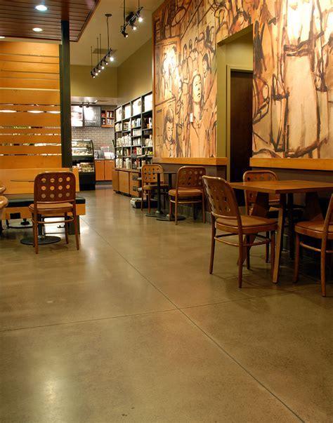 Concrete Floor Polishing and Grinding ? Starbucks in Eugene