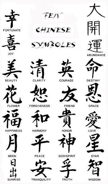 Chinese Symbols Tattoos