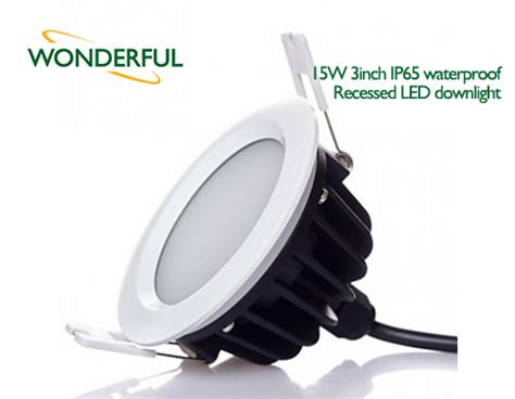 15w 3inch ip65 waterproof recessed led downlight l