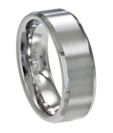 s wedding ring in cobalt chrome classic satin finish 7mm